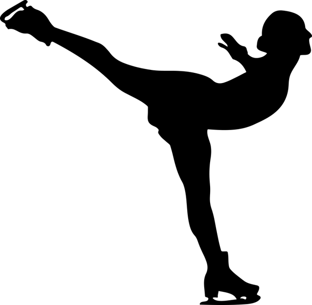 silueta krasobruslařky