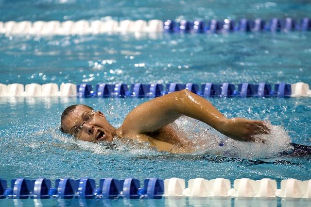 plavec na závodech