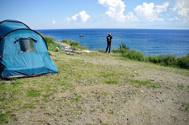 stan na pláži