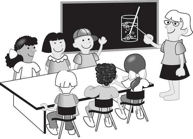 učitelka a žáci