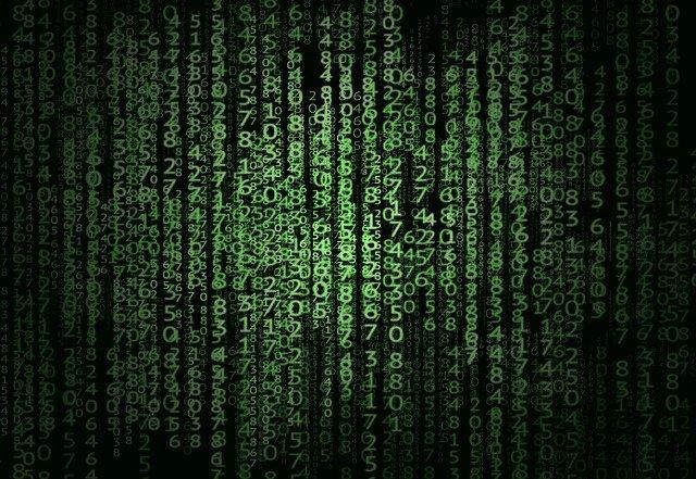 zelená čísla matrixu