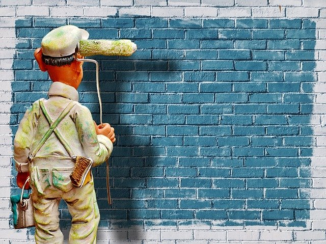 malíř u zdi