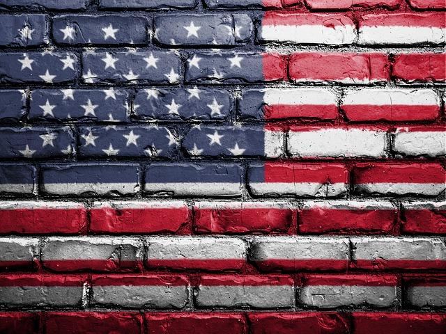 vlajka usa na zdi