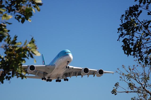 Přistávající letoun společnosti Korean Air